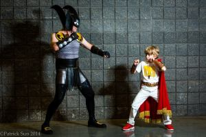 Battling Boy and Dad